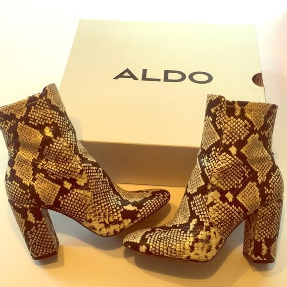 6f6aa2368814 Aldo Shoes - Aldo Aurella Snakeskin Boots